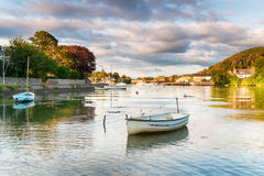 Boats at Millbrook in Cornwall Royalty Free Stock Photo