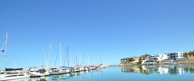 Boats in Mindarie Harbour and Marina Stock Image