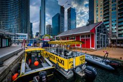 Boats and modern buildings at the Harbourfront in Toronto, Ontar. Io Stock Photography