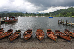 Boats moored at Ambleside Stock Photography