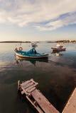 Boats Moored at Ayvalik Royalty Free Stock Images