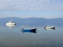 Boats Moored in Calm Water Royalty Free Stock Image