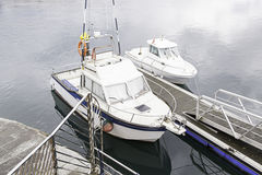Boats moored at the dock Royalty Free Stock Photography