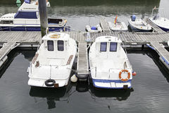Boats moored at the dock Royalty Free Stock Image