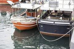 Boats moored at the dock Stock Photography