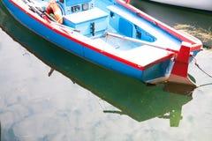 Boats moored in the dock of Lake Garda Stock Image
