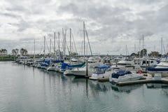 Boats moored at Embarcadero Marina Park North, San Diego. stock images