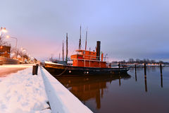 Boats moored in Helsinki Royalty Free Stock Photo