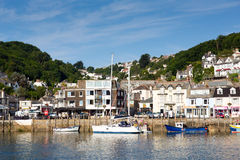 Boats moored Looe Cornwall England Stock Images