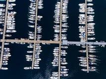 Boats moored in Marmaris marina Royalty Free Stock Photo