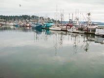 Boats moored in Newport Harbor Royalty Free Stock Photo