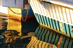 Boats moored in the port of Santa Pola, Alicante. Spain.  royalty free stock image