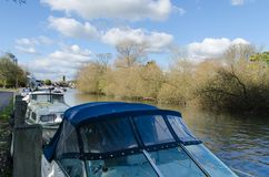 Boats moored in Henley on Thames Stock Photo