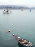 Boats moored in San Luis Bay Royalty Free Stock Photo