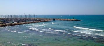 Boats at Marina. Boats moored at Tel Aviv Marina on a sunny day Royalty Free Stock Images