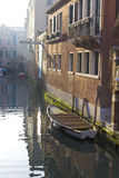 Boats moored in Venice Canal Royalty Free Stock Photo