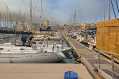 Boats mooring at the port Royalty Free Stock Image