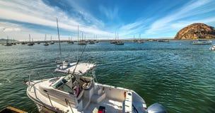 Boats in Morro Bay royalty free stock photography