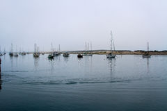 Boats in Morro Bay Stock Image