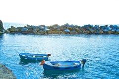 Boats motor ocean Royalty Free Stock Photos