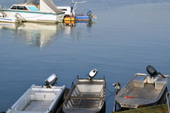 Boats with motor Penta on the Danube River Stock Photography