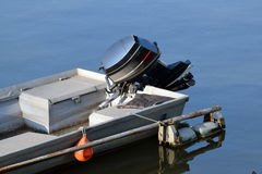 Boats with motor Penta on the Danube River Royalty Free Stock Photo