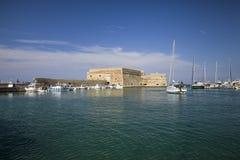 Koules Fortress in Heraklion. Island of Crete in Greece. stock photo