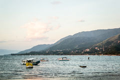 Boats and Mountains at Beautiful Island (Ilhabela) in San Paulo. Photo of Boats and Mountains at Beautiful Island (Ilhabela) in San Paulo (São Paulo), Brazil stock photography