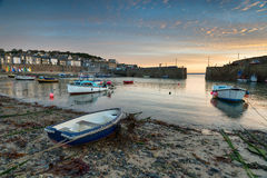 Boats at Mousehole. Boats in the harbour at Mousehole near Penzance in Cornwall Royalty Free Stock Images