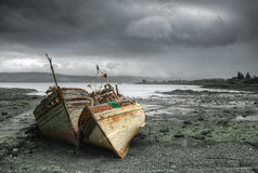 Boats of Mull Stock Photography