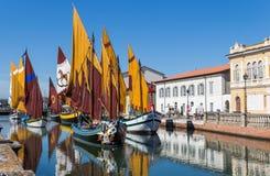 Boats museum in Cesenatico, Emilia Romagna, Italy Royalty Free Stock Photos