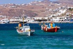 Boats Mykonos Stock Photos