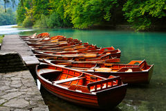 Boats in the national park Royalty Free Stock Photos