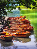 Boats in the national park Plitvice Royalty Free Stock Image