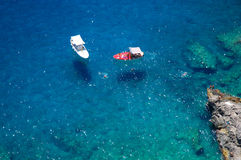Boats near Capri island, Italy Stock Photos