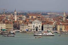 Boats near the church of Santa Maria della Pieta. VENICE, ITALY Royalty Free Stock Images