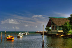 Boats near Guardalavaca Stock Image