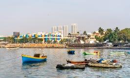 Boats near Haji Ali Dargah in Mumbai. India Stock Photos