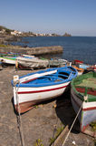 Boats near island in Italy Stock Images