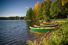 Boats near lake Royalty Free Stock Images