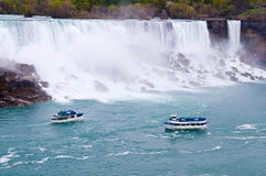 Boats near Niagara Royalty Free Stock Photo