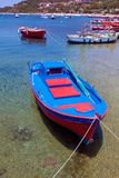 Boats near Ouranopolis, Athos, Chalkidiki, Greece Royalty Free Stock Photo