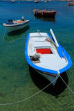 Boats near Ouranopolis, Chalkidiki, Greece Royalty Free Stock Photo