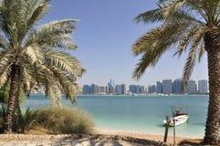 Boats near the shore. Abu Dhabi. Stock Photo
