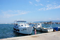 Boats in Nesebar Stock Photography