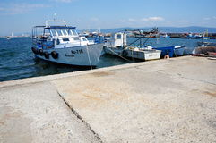 Boats in Nesebar Stock Photos