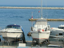 Boats in Nessebar Royalty Free Stock Photo