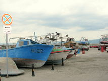 Boats in Nessebar Royalty Free Stock Images
