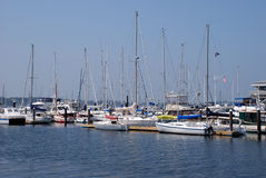 Boats in Newport, Rhode Island Royalty Free Stock Photography