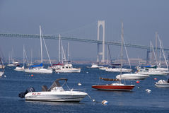 Boats in Newport, Rhode Island Stock Photo